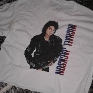 Michael Jackson Bad crop top
